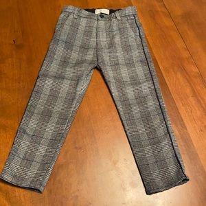 Zara girls size 5 plaid pants